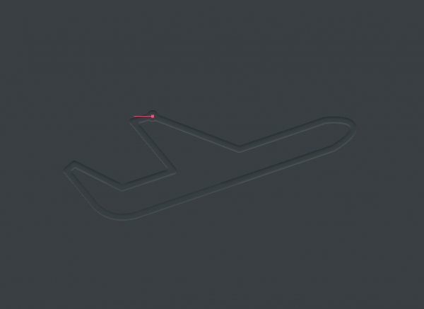 Drawing an airplane using the Bézier Game