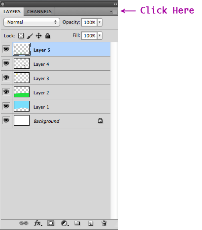 The Layers-Paneloptions-Menu-Button