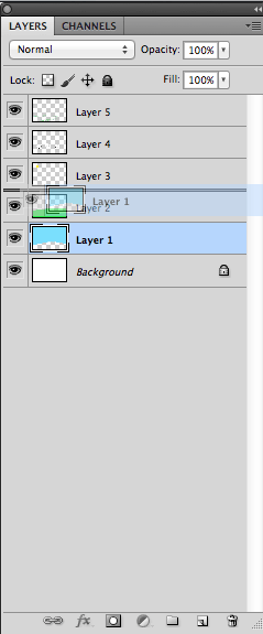 Drag Layer To Change Its Place In The Layers Panel