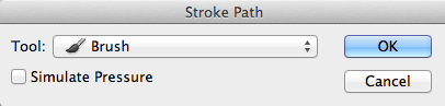 Stroke-Path-Dialogue