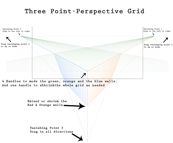 Three-Point-Perspective-Grid
