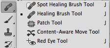 Accessing Healing Brush Tool