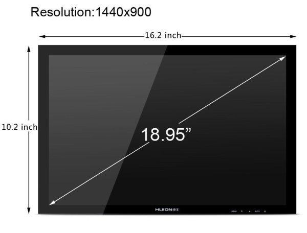 Huion GT-190S Screen Aspect Ratio