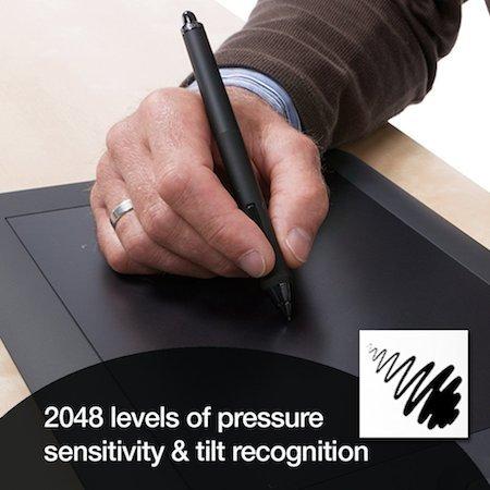 The pressure sensitivity of Wacom Intuos Pro Medium is 2048