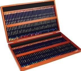 Derwent Inktense pencils wooden box, 72 Pencils