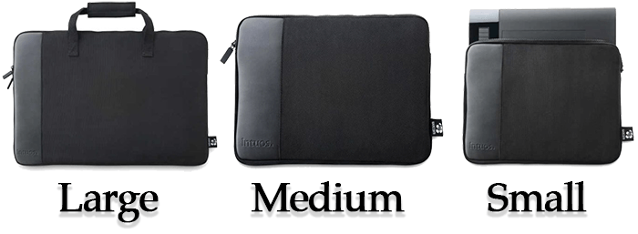 Different Sizes Of The Intuos Case