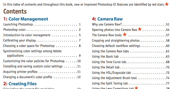 Photoshop CC- Visual QuickStart Guide Table Of Contents