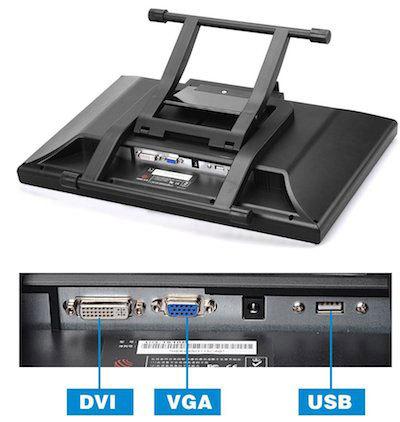 VGA & DVI ports