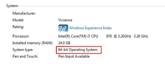 32 64 Bits System