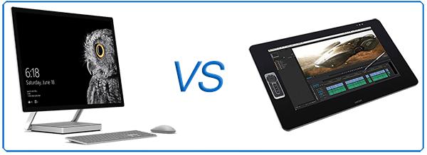 Surface studio VS cintiq27qhd Comparison