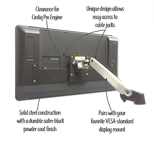 Adaptiq-VESA-Mount-Adapter-For_Wacom-Cintiq-Pro-24-Inch-DTK-2420-DTH-2420-1