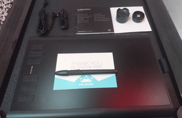 New-Huion-1060-Plus-Package-Contents