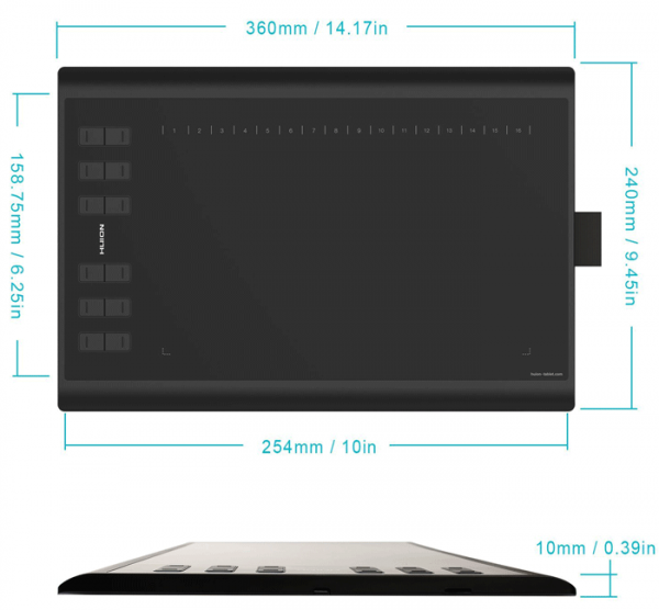 Tablet-Dimensions