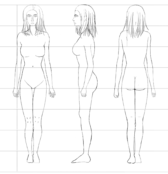 The Female Human Body Proportions How To Get Them Right Using The Heads Count Method Sweet Drawing Blog