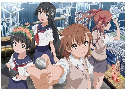 The main four girls of A Certain Scientific Railgun / Toaru Kagaku no Railgun