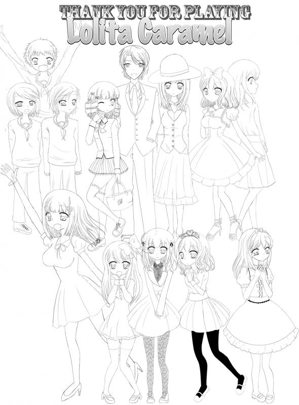 Lolita Caramel Characters